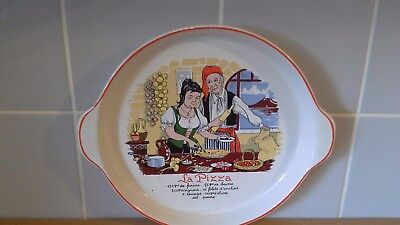 Ashley Ceramics La Pizza Dish 25cms With italian Recipe