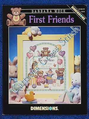 Cross Stitch Pattern First Friends Baby Birth Record Announcement Sampler