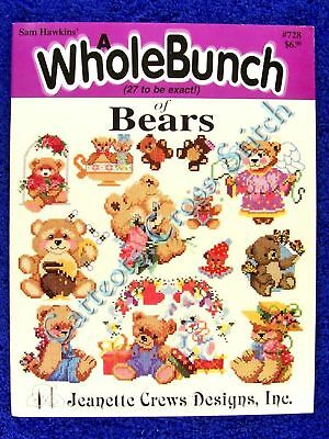 Cross Stitch Pattern Whole Bunch of Bears Sam Hawkins 27 Teddies