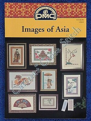 Cross Stitch Pattern Images of Asia Oriental Dragon Fan