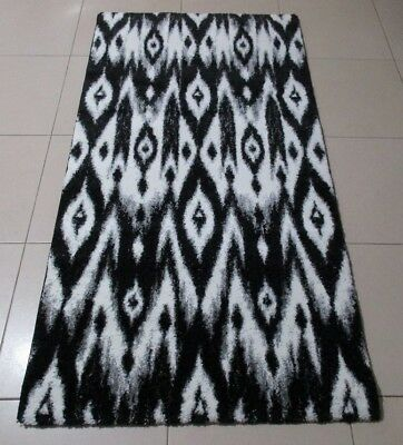 New Black/white Modern High Quality Heatset Floor Hallway Runner Rug 80X150Cm