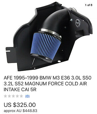 Cold Air Intake Induction Kit  Fits BMW M3 E36 1999-