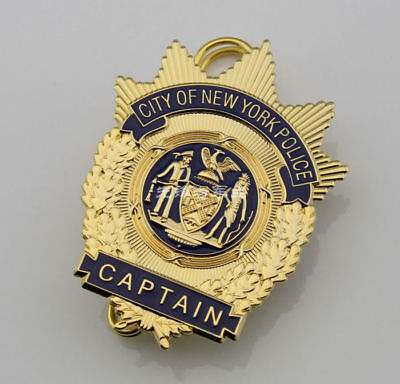 City Of New York Nypd Captain Badge Pin Fine Copper Emblem Collection Us Badges