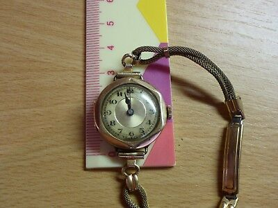 Vintage 9Ct Solid Rose Gold Watch, 1930's, Stamped Handley 9Ct