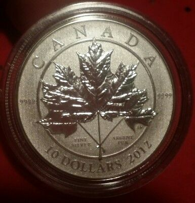 2012 Maple Leaf Forever $10 Canadian 1/2 oz Fine 9999 Silver Coin Canada