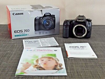Canon EOS 70D 20.2MP Digital SLR Camera - Black (Body Only),2 batteries+charger
