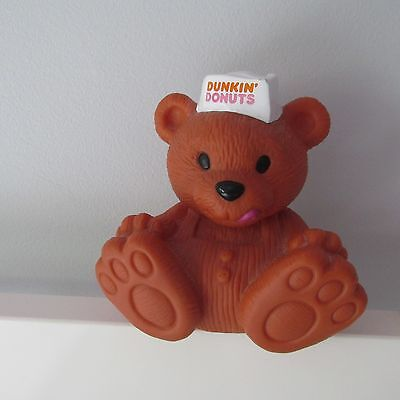 Vintage 1993 Dunkin Donuts Bear Advertising Bank Collectible Promo