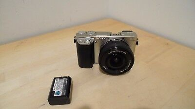 Sony Alpha a6000 Mirrorless Digital Camera - Silver with 16-50mm Lens