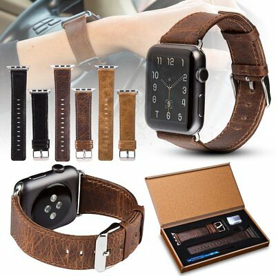 Vintage Genuine Leather Wrist Band Strap For Apple Watch iWatch 2017 NEW 38/42mm