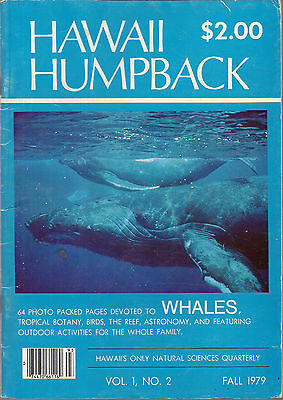 Vintage Maui 1979 HAWAII HUMPBACK Magazine, Whales, Natural Sciences Quarterly