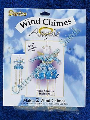 Bead Kit Blue Angel Wind Chimes Beaded Craft Makes 2 Angels
