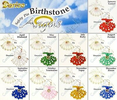 Two MINI Angels Birthstone Bead Kit Ornament & Pin