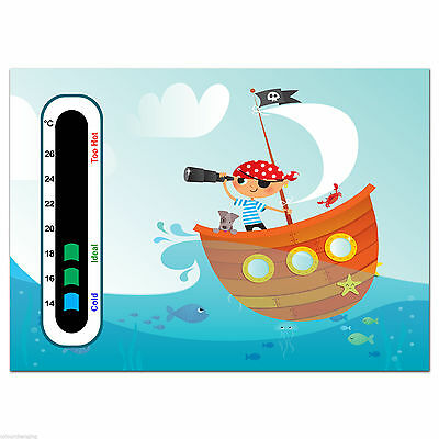 Baby Safe Ideas Pirate Baby and Child Nursery Room Thermometer