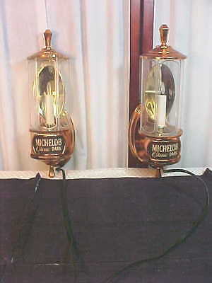 1986 Pr Michelob Classic Dark Wall Mount Adv. Lamps-Sharkey's Memorabilia
