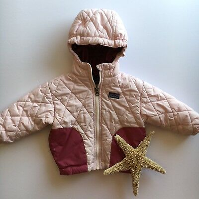 Patagonia Winter Coat Baby Girls 18 Months Light Pink Hooded Full Zip Casual
