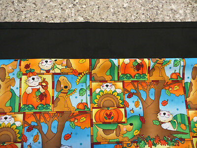 Fall Dogs And Cats Server/waitress/3 Pocket Half Apron Restaurant