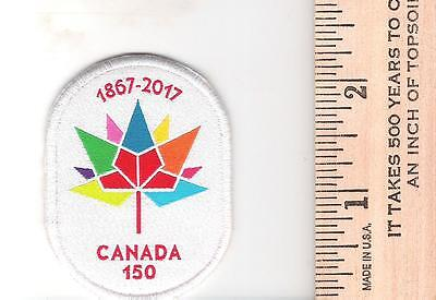 Canada 150 Crest Patch - white background - sewing