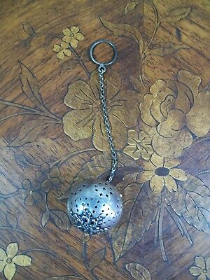 Rare Antique Watrous Sterling Silver Tea Ball Infuser International Strainer