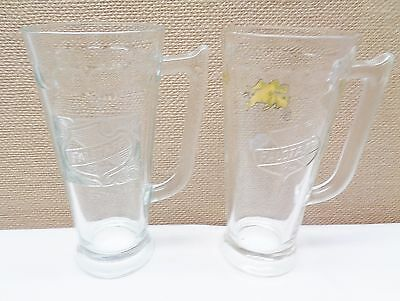 "2 Vintage 7"" Falstaff Beer Mugs or Glasses"