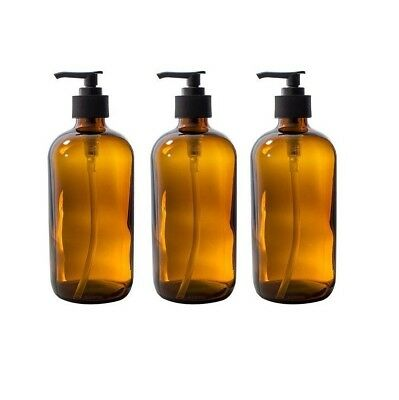 500ml Glass Bottle Lotion Soap Dispenser Pump for Aromatherapy DIY Home Kitchen