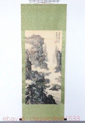 Large CHINESE Watercolor Painting Hand Painted landscape On Silk FG45