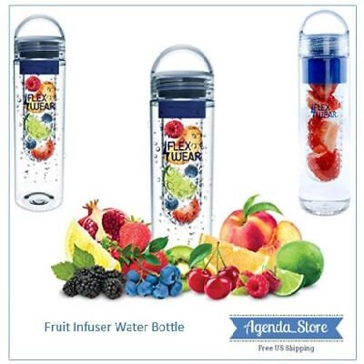Fruit Infuser Water Bottle Sports BPA Free Leak Proof Tea Infusing Insert 24oz