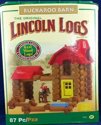 Lincoln Logs Buckaroo Barn with Box & Instructions 87 Pieces 2010 #00885 NEW