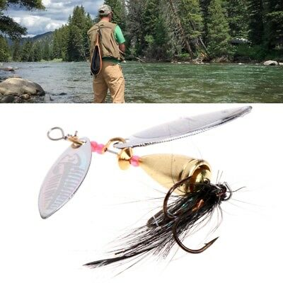 7.8cm Metal Fishing Lure Sequins Spinner Spoon Baits Feather Fishhook 11g Tackle