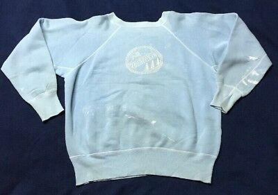 VINTAGE 50's/60's LUTHERLYN BIBLE CAMP SWEATSHIRT AFTERMARKET STITCH REPAIR