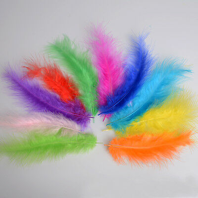 Beautiful 100pcs Nature Rooster Tail Feathers Hat Toys Dress Decoration Crafts