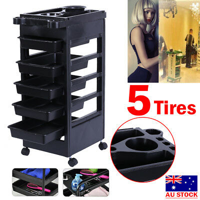 Salon Hairdresser Barber Beauty Storage Trolley Haircut Drawers Coloring Cart