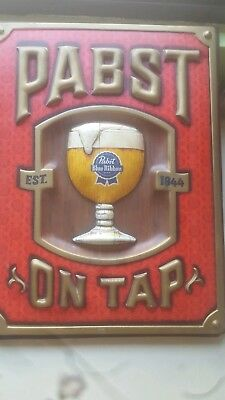 "Vintage Pabst On Tap ""est. 1844"" Large Beer Sign"