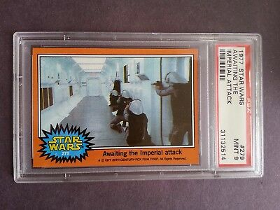 1977 Topps Star Wars #279 Awaiting The Imperial Attack PSA 9 Mint