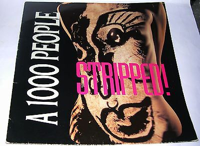 """A 1000 People - Stripped (4 track 12"""" EP) 1991  (Band signed Inner sleeve)"""