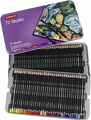 Sealed Derwent Studio Pencils Tin 72 Pack