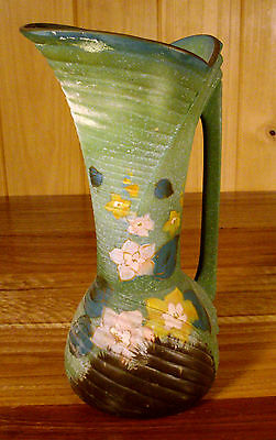 Huge Vintage Hand Painted English Art Deco Jug