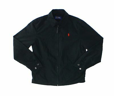 Polo Ralph Lauren NEW Black Mens Size Large L Collared Full-Zip Jacket $145 008