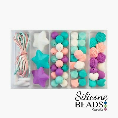 Little Miss Turquoise Silicone Bead Starter Kit