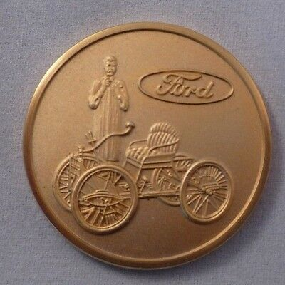 Ford Motor Company Gold Medallion Coin - Henry Ford + Quadricycle
