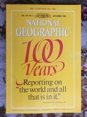 National geographic magazine.September 1988. centennial edition