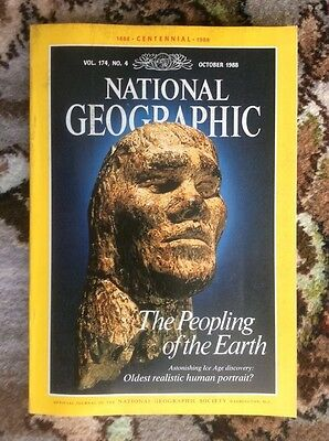 national geographic magazine. October 1988