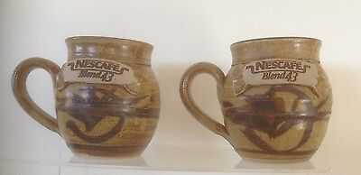 Two Limited Edition Pottery Nescafe Mugs