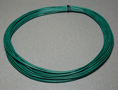 10 Metres GREEN UL-1007 Hookup Wire 22AWG 1.6mm PVC insulator