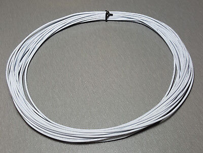 10 Metres WHITE UL-1007 Hookup Wire 22AWG 1.6mm PVC insulator