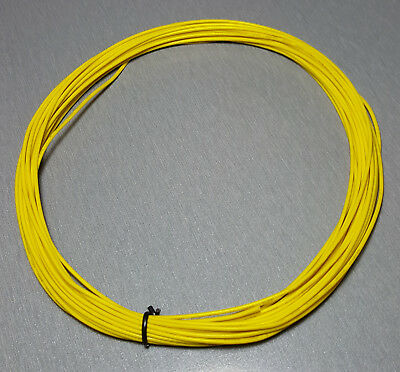 10 Metres YELLOW UL-1007 Hookup Wire 22AWG 1.6mm PVC insulator