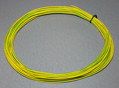 10 Metres YELLOW/GREEN stripe UL-1007 Hookup Wire 22AWG 1.6mm PVC insulator