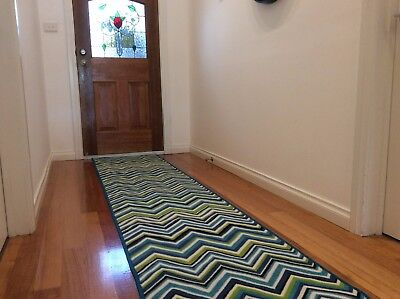 Hallway Runner Hall Runner Rug Modern Blue 3 Metres Long FREE DELIVERY 09892