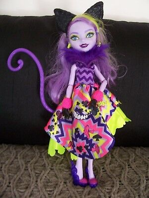 Monster High Doll With Cat Ears And Tail. In Top Cond Complete Outfit.