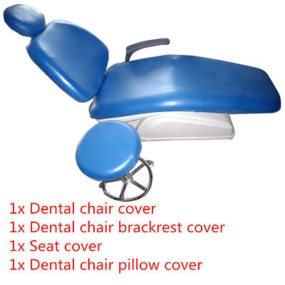 1Set/4PCS Leather Waterproof Elastic Dental Chair Seat Cover Protector 125X60CM