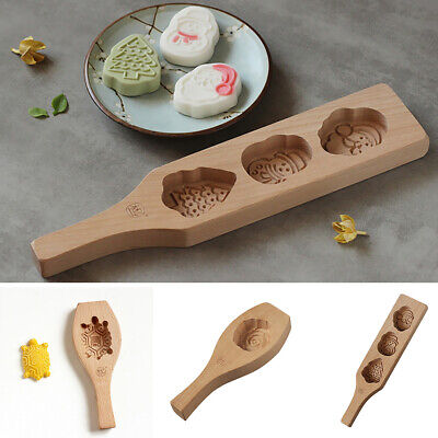 Various Pattern Wooden Handmade Muffin Mooncake Cups Mould Biscuit Cake Mold